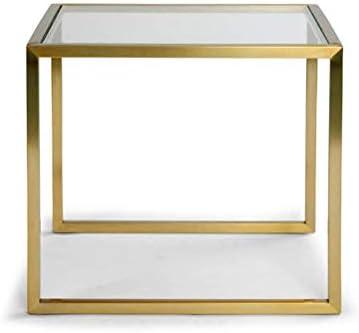 100% Origineel Moderne Minimalistische Glazen Salontafel Creatieve Zithoek Tafel Plein Salontafel Kantoor Aan Huis Decoratie 4.11 jxEmHRT