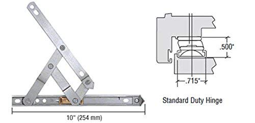 "Truth 10"" Standard Duty 4-Bar Stainless Steel Window Hinge"