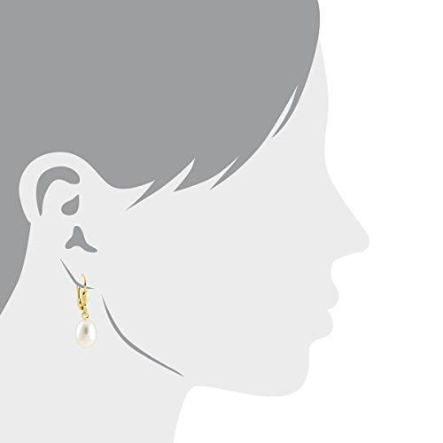 Bella Donna - 900141 - Boucles d'Oreilles Pendantes Femme - Or jaune 585/1000 (14 cts) 2.5 Gr - Perles d'eau douce