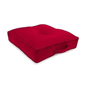 Amazon.com: Cojín de suelo para exteriores, color rojo, con ...