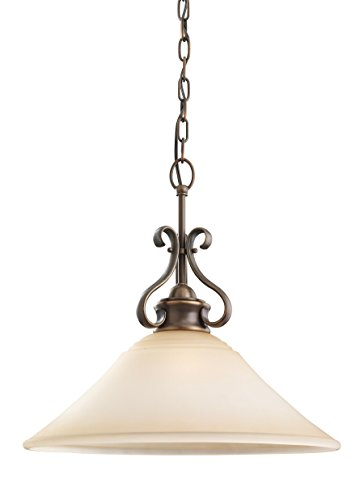 Sea Gull 65380EN-829 Parkview Pendant, 1-Light 9 Watts, Russet Bronze