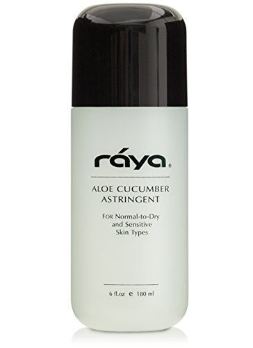 RAYA Aloe Cucumber Astringent 6 oz (202) | Gentle Pore Tightening and Smoothing Facial Toner for Dry and Sensitive Skin | Helps Refine, Cool, and Sooth | Smooths Complexion When Used Before Make-Up