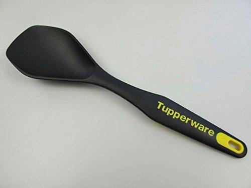 TUPPERWARE Griffbereit-Serie D166 Servierlöffel schwarz/gelb