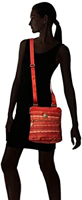 Baggallini Hanover Crossbody Bag with Gold Hardware – Slim, Lightweight, Multi-Pocketed Travel Bag with Removable Wristlet