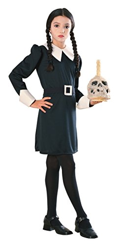 [Addams Family Child's Wednesday Addams Costume, Large] (Halloween Costumes For The Family)