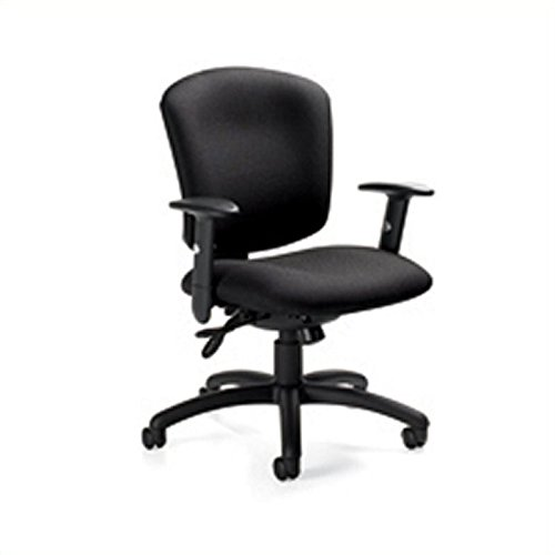 Global Supra X Medium Back Multi Tilter Office Chair in Black