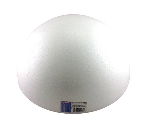 Smoothfoam RT182.5 Half Ball Pastel, 12-Inch, White