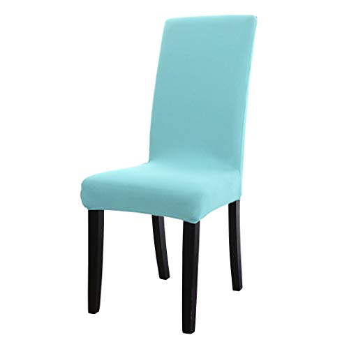 uxcell Dining Chair Cover,Stretch Bar Stool Slipcover Kitchen Chair Protector Spandex Short Chair Seat Cover for Home Decorative/Dining Room/Party/Wedding (Medium,Teal)