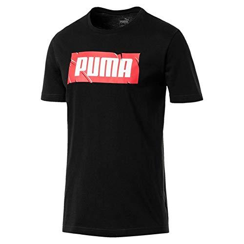 (PUMA Wording T-Shirt Black Size XXL)
