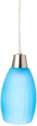 Small Blue Glass Pendant Lights - 6