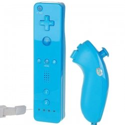 another chance factory outlet new concept Manette Wiimote Bleu - Wii Nunchunk - Compatible Wii: Amazon ...