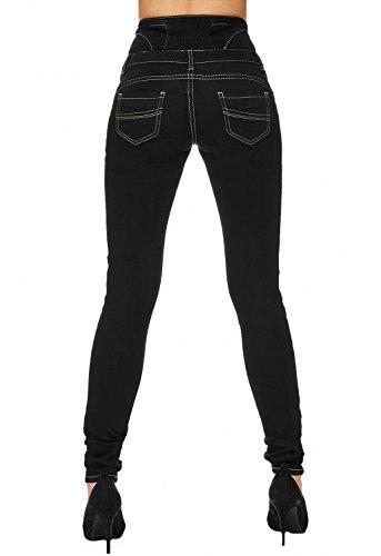 Nero Jeans Hosen Delle D1713 Skinny Donne Arizonashopping Denim RqZvgH