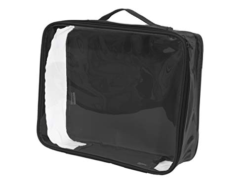Clear Stadium Approved Tote Bag/Perfect for Concerts, Game Day, and Storage Cube (Black)