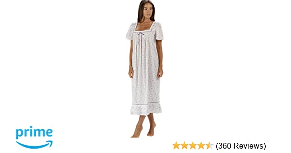9166c0e189 The 1 for U 100% Cotton Short Sleeve Nightgown - Evelyn at Amazon ...