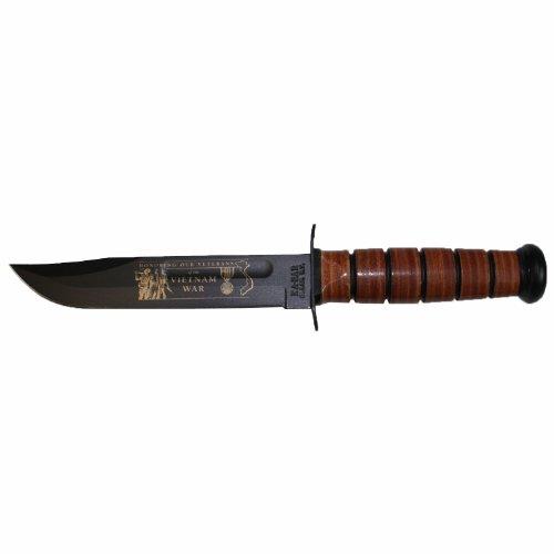 Ka-Bar 9140 USMC Vietnam War Knife with Leather Sheath (7-Inch)