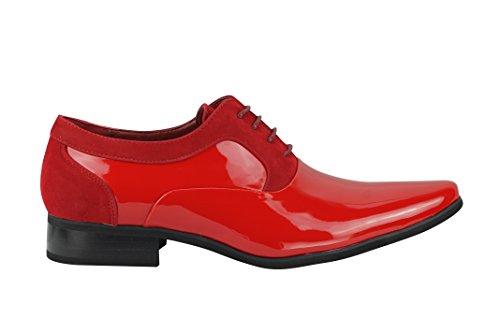 Basse Red Stringate Scarpe uomo Xposed Patent AqHwaOnnz