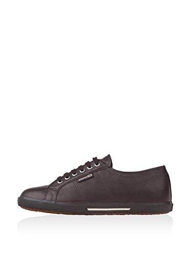 Superga S003880 - Zapatillas de cuero para hombre marrón - Marron (G08 Full Chocolate)