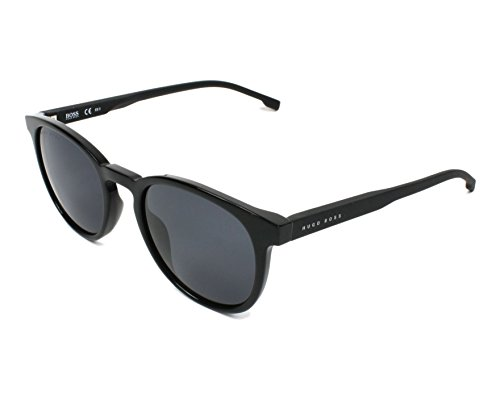 BOSS by Hugo Boss Men's Boss 0922/s Polarized Oval Sunglasses, BLACK, 51 mm