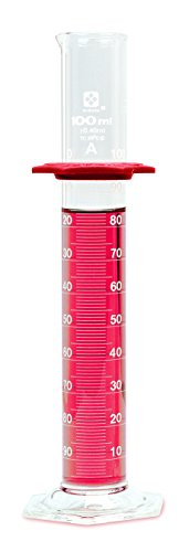 (Vee Gee Scientific 2351A-50 Borosilicate Glass Sibata 50 mL Class A Graduated Cylinder (Pack of 4))