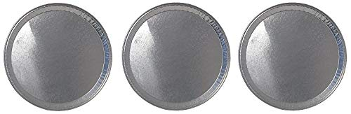Durable Packaging Disposable Aluminum Round Flat Serving Tray, 16'' (Pack of 25) (3-(Pack))