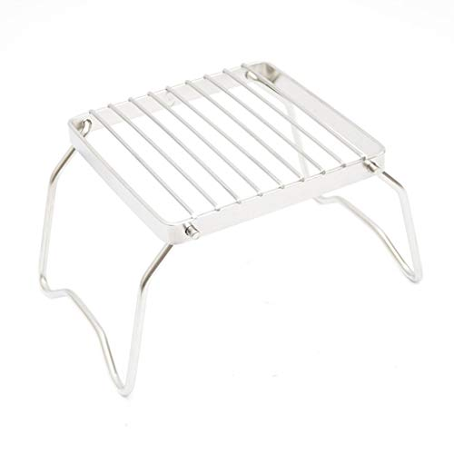 Wrea Stainless Steel Foldable Cooking Stove Holder Stand Camping Pot Bracket Outdoor BBQ Grilling Rack Shelf