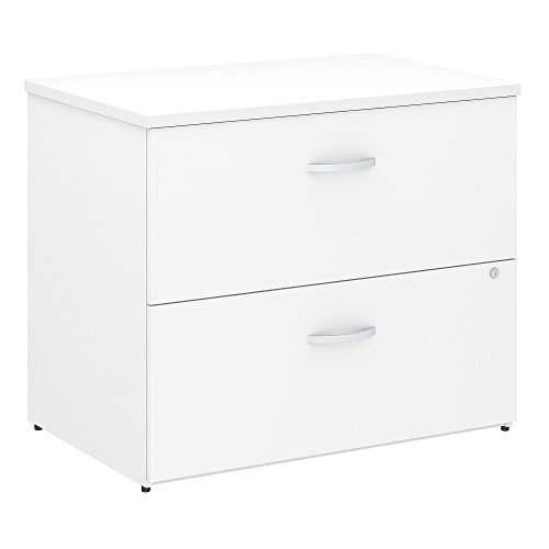 Bush Business Furniture Studio C Locking Lateral File Cabinet in White ()