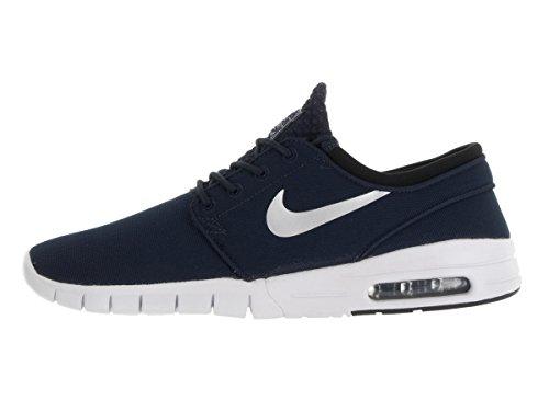 Nike Stefan janoski max - Chaussures de skateboarding, Homme, Couleur Noir (obsidian/metallic silver-white-black), taille 45 1/2