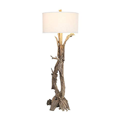 Dimond Home 7011-291 Hounslow Heath - One Light Floor Lamp, Natural Finish with White Fabric Shade