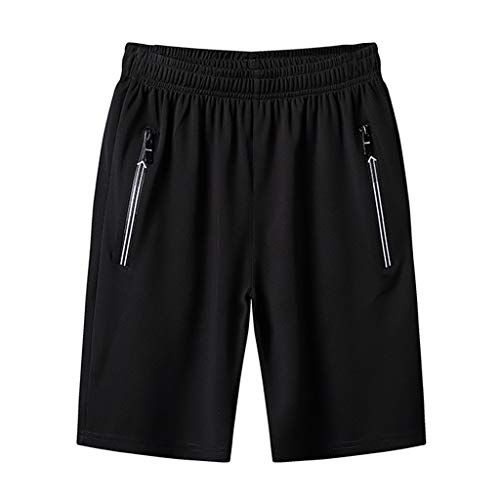 Mnowson Mens Swim Trunks Summer Beachwear Swimming Board Shorts Quick Dry Striped Black