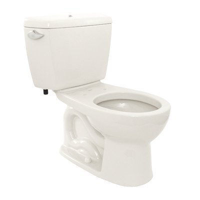 12 Drake Round Bowl (TOTO CST743SB#01 Drake 2-Piece Toilet with Round Bowl and Bolt Down Tank Lid, Cotton White)