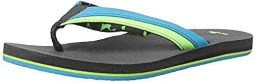 Sanuk Youth Rootbeer Cozy Light Sandals Ocean / Lime 6/7 & Shoe Cleaner Bundle v8hzv