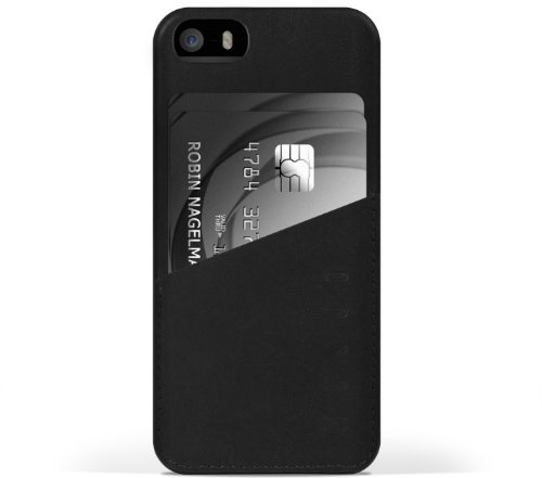 iPhone 5s Case Mujjo Leather Wallet Case for iPhone 5s (Black)