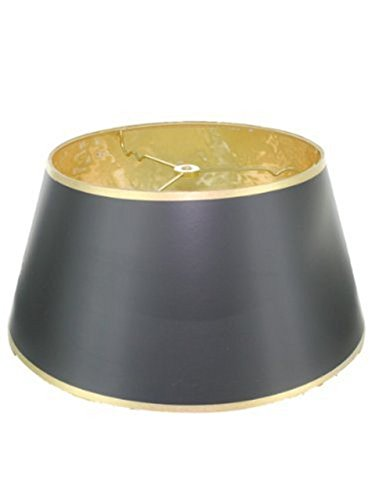 "Upgradelights 14"" Black with Gold Bouillotte Lamp Shade in a"