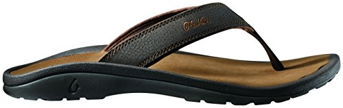 (OLUKAI Men's Ohana, Dark Java/Ray, 15 D-Medium)
