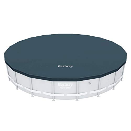 Bestway 58356E Round PVC 20 Foot Pool Cover for Above Ground Pro Frame Pools