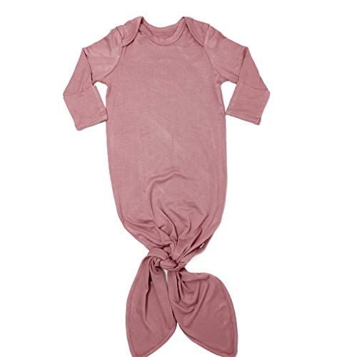 Posh Peanut Baby Gown Soft Bamboo Girl's Layette Comfortable Newborn Swaddle Wear (Dusty Rose)