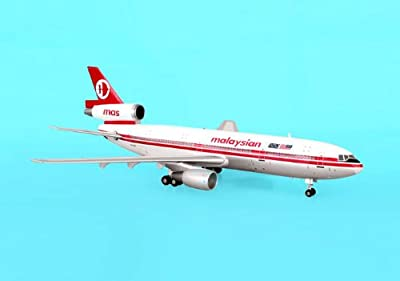 AVIATION200 1-200 Scale Model Aircraft AV2DC10405 Malaysian DC-10-30 1-200 Old Livery REGNo. 9M-MAT