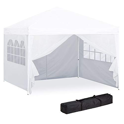 Best Choice Products 10x10ft Portable Pop Up Canopy Tent w/Detachable Window Walls, Zip-Up Doorw ...