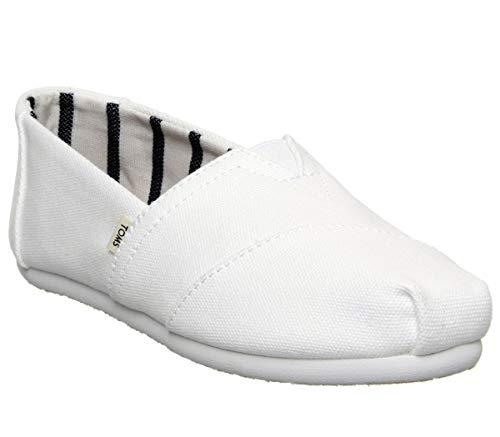 Toms Women's Alpargata Espadrille, Size: 10 B(M) US, Color: Toms White Canvas -