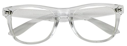 Basik Eyewear - Unisex Wayfarer Rx-able Glasses Frame Clear Lens - Guys Glasses With Nerd