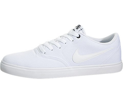 Nike Men's SB Check Solar Canvas Skate Shoe, Sneaker, White/White, 10 US M by Nike (Image #5)