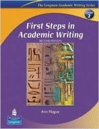 تحميل كتاب first steps in academic writing