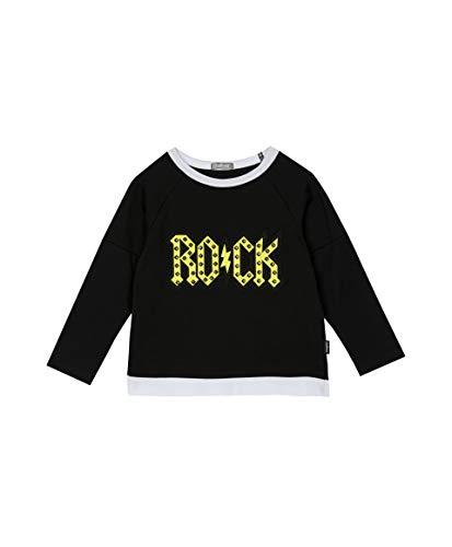 GULLIVER Jongens Shirt met Lange Mouwen Kinderen Lange Mouw T-shirt Zwart Ronde Hals Katoenen Casual Top 3-8 Jaar