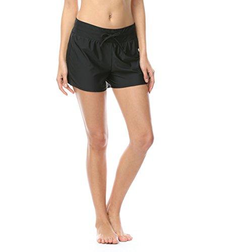 DUSISHIDAN Womens Board Shorts Black Bermuda Shorts Swim - Swim Shorts Bermuda Women's