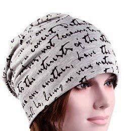 Amazoncom Hc Gray Black Inspirational Slouchy Cancer Chemo Hat