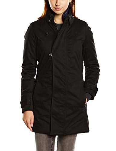 Femme Minor Longues Black Manches 6484 Trench G Star Noir Dk RnXq1