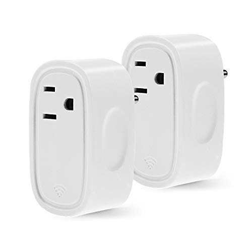 Aidina Smart Plug, WiFi Enabled Mini Smart Switch Compatible with Amazon Alexa & Google Home, No Hub Required (2 Pack)