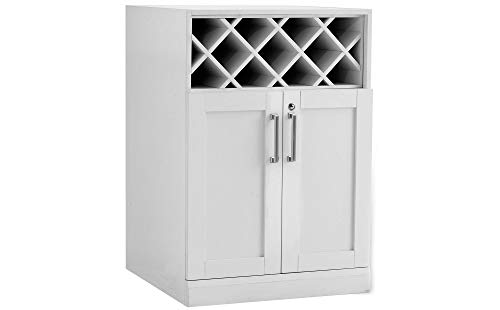 NewAge Products Home Bar Wine Rack Storage Cabinet