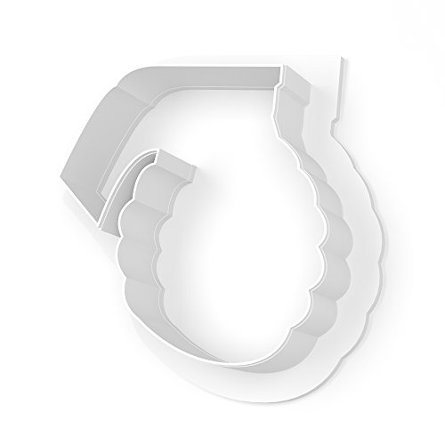 Hand Grenade Cookie Cutter - LARGE - 4 Inches Large Grenade
