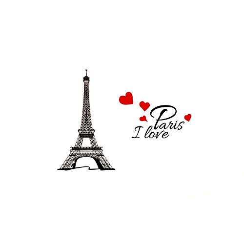 Eiffel Tower I Love Paris Wall sticker Waterproof Removable Wall Decal Home Decoration